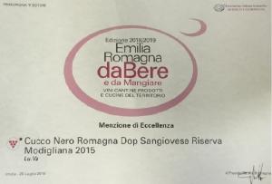 Cucco Nero Romagna DOP Sangiovese Riserva Modigliana 2015